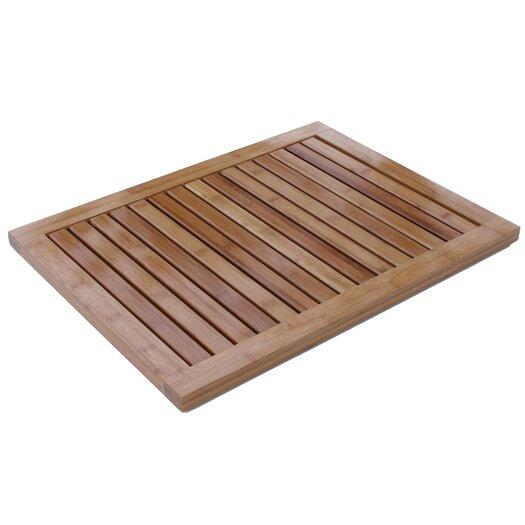 Oceanstar Design Bamboo Floor and Shower Mat