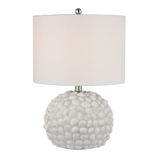 "Dimond Lighting Shell 19"" H Table Lamp with Drum Shade"
