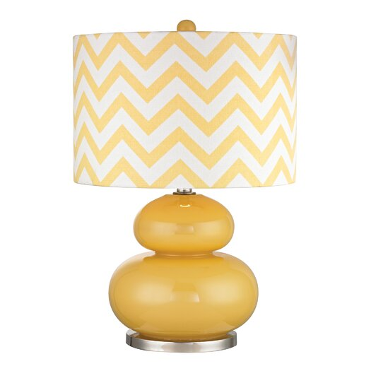 """Dimond Lighting 23.5"""" H Table Lamp with Drum Shade"""