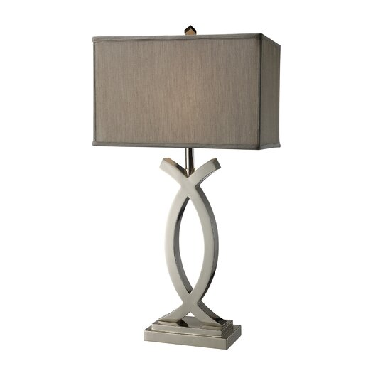 """Dimond Lighting Rowley 32"""" H Table Lamp with Rectangular Shade"""