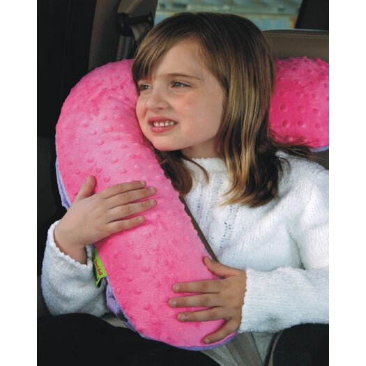 Kalencom Seat Belt Snoozer in Pink / Lilac Minky