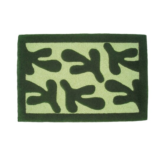 Balanced Design Rugs Pesto Bird's Feet Green Area Rug