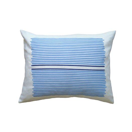 Hand Printed Linen Pillow Louis Stripe