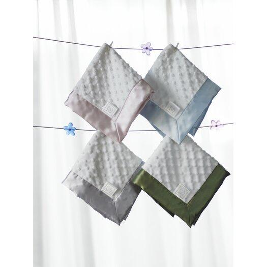 Swaddle Designs Baby Lovie Plush Dot Blanket with Pastel Trim