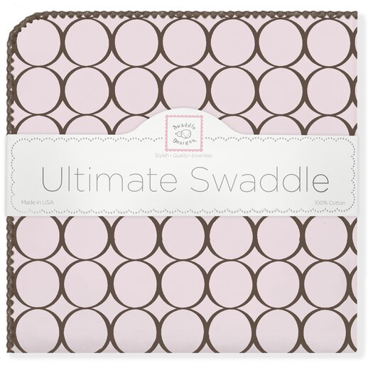 Ultimate Receiving Blanket� in Pastel with Brown Mod Circles