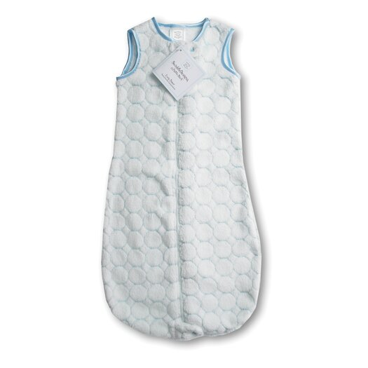 Swaddle Designs zzZipMe Sack in Pastel Blue Puff Circle
