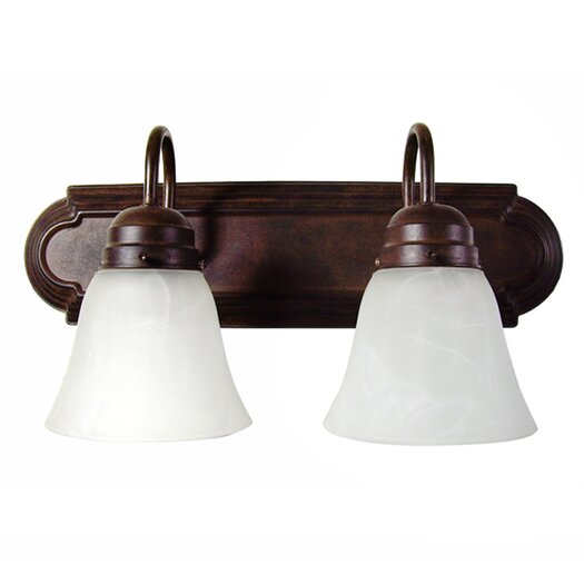 Yosemite Home Decor 2 Light Bath Vanity Light