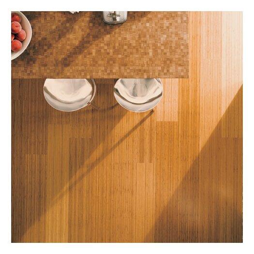 """Teragren Studio Floating Floor 7-11/16"""" Vertical Bamboo Flooring in Caramelized"""