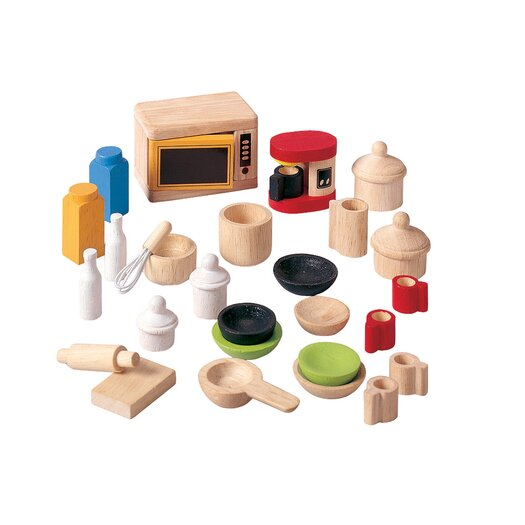 Plan Toys Dollhouse Accessories for Kitchen and Tableware