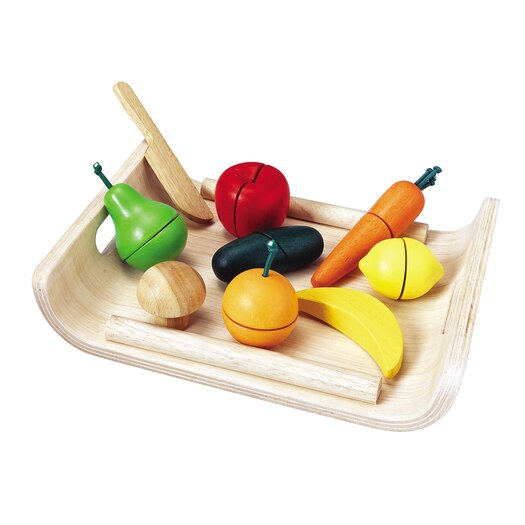 Plan Toys Large Scale Assorted Fruit and Vegetable Set