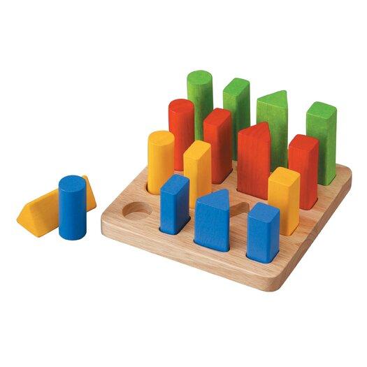 Plan Toys Preschool Geometric Peg Board