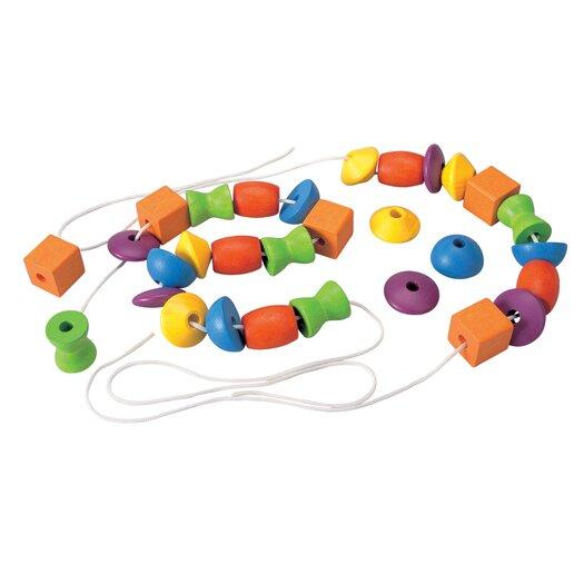 Plan Toys Preschool Lacing Bead Set