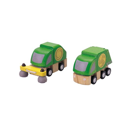 Plan Toys City Street Cleaner and Garbage Truck