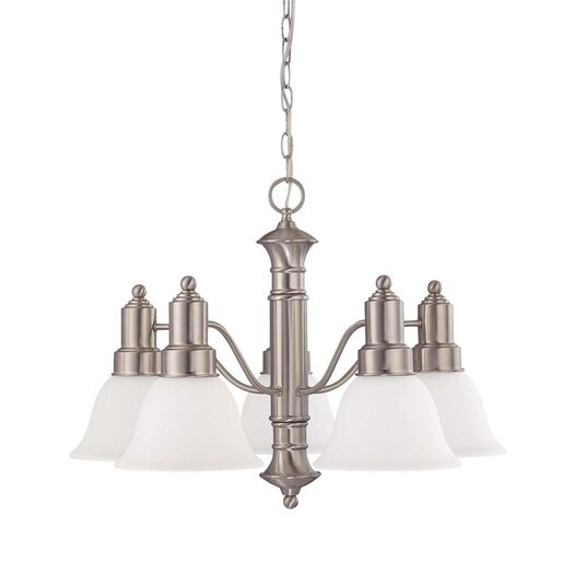 Nuvo Lighting Gotham 5 Light Chandelier