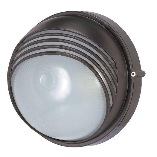 Nuvo Lighting Round Hood 1 Light Wall Sconce