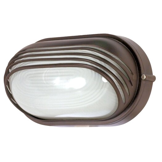 Nuvo Lighting Oval Hood Wall Sconce in Architectural Bronze