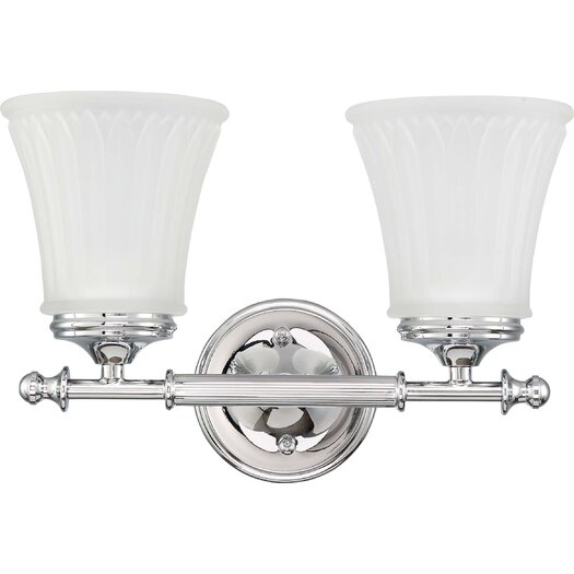 Nuvo Lighting Teller Two Light Bath Vanity in Polished Chrome