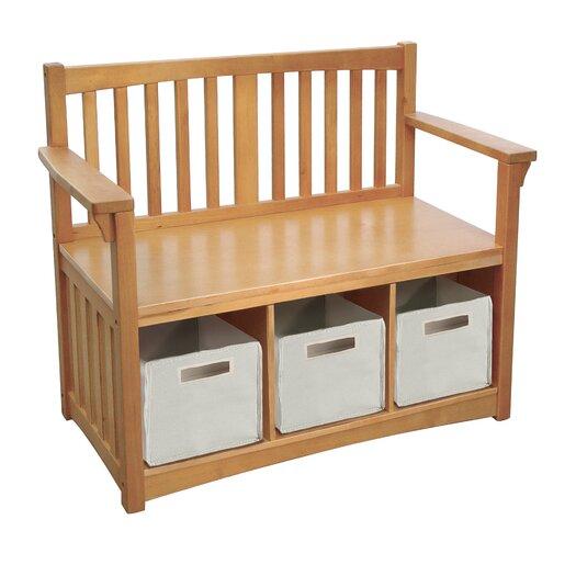 Guidecraft New Mission Wood Storage Bench