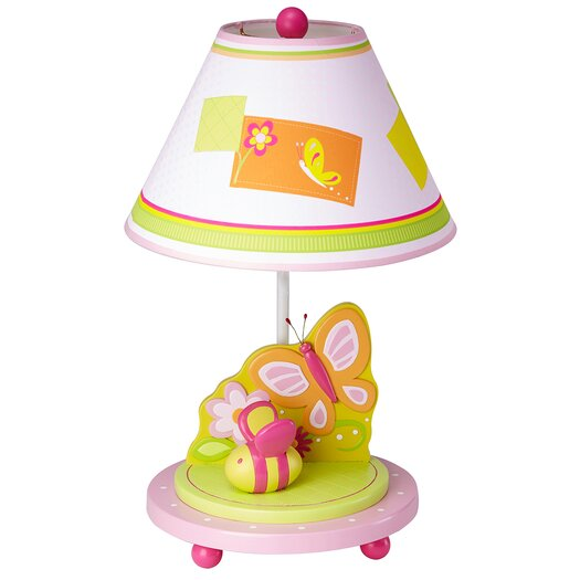 "Guidecraft Gleeful Bugs 19"" H Table Lamp with Empire Shade"