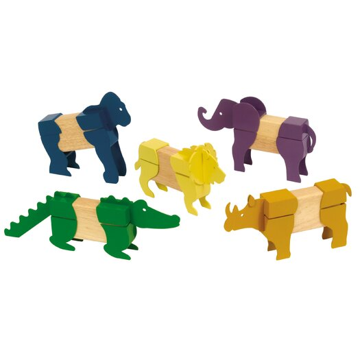 Guidecraft Safari Animal Block Mates