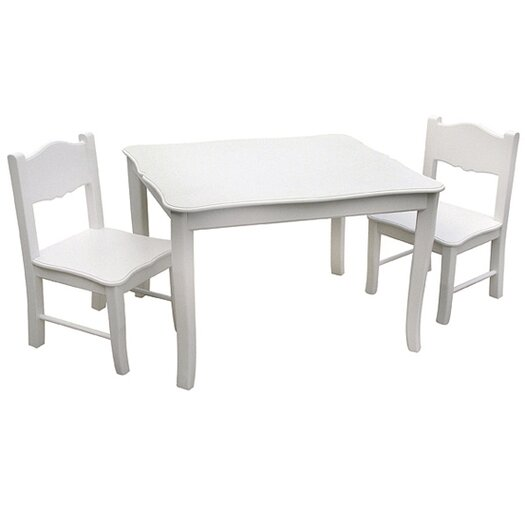 Guidecraft Classic Kids' 3 Piece Table and Chair Set