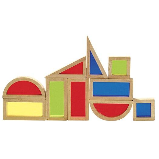 Guidecraft 10 Piece Rainbow Block Set