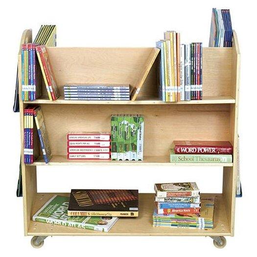 """Guidecraft School Library 37.5"""" Book Cart"""