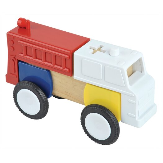 Guidecraft Block Mates Community Vehicles Set