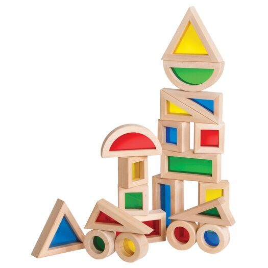 Guidecraft Jr. Rainbow 20 Piece Block Set