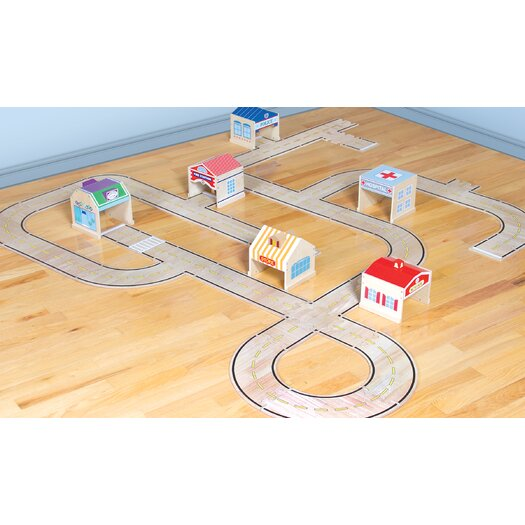 Guidecraft 42 Piece Roadway Set