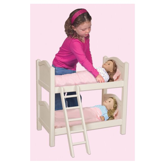 Guidecraft Doll Bunk Bed in White