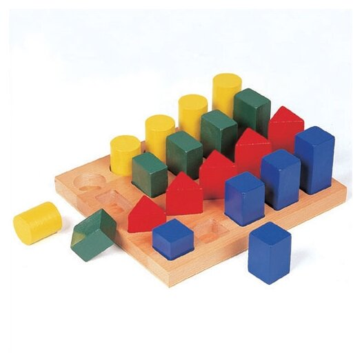 Guidecraft Colorful Geo Forms Sorting Puzzle