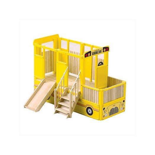 Guidecraft Loft School Bus Play Indoor Playground