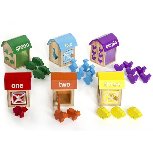 Guidecraft Manipulatives Barnyard Activity Boxes