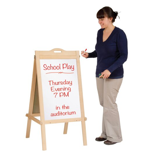 "Guidecraft Classroom Furniture Message 3' 8"" x 1' 10"" Chalkboard"