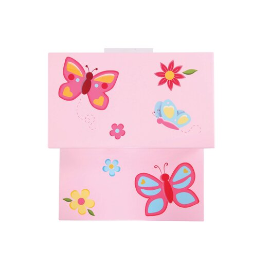 Guidecraft Butterfly Buddies Storage Step Stool
