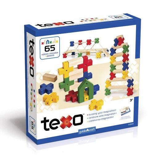 Guidecraft Construction Toys Texo 65 Piece Building Set
