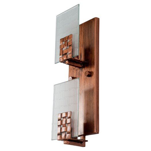 Varaluz Dreamweaver 2 Light Vertical Recycled Wall Sconce