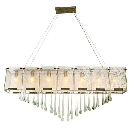 Varaluz Rain Drops 7 Light Linear Pendant