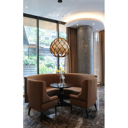 Varaluz Argyle 4 Light DownLight Drum Foyer Pendant