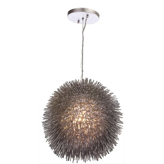 Varaluz Urchin 1 Light Foyer Globe Pendant