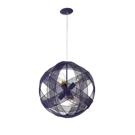 Varaluz At-Mesh-Sphere 6 Light Foyer Pendant