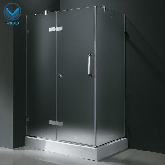 "Vigo 24"" Pivot Door Swing Frameless Shower Enclosure with Base"