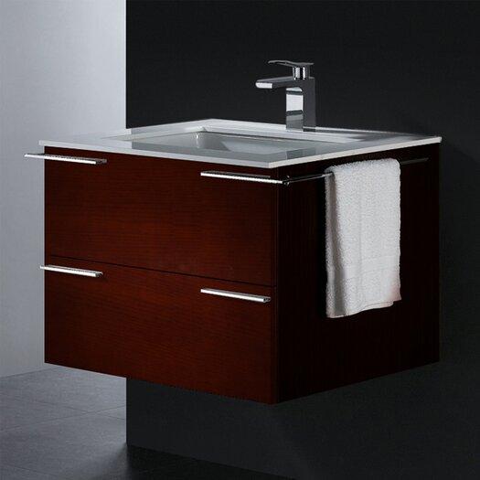 """Vigo Endearing 31.25"""" Wall Mounted Bathroom Vanity Set"""