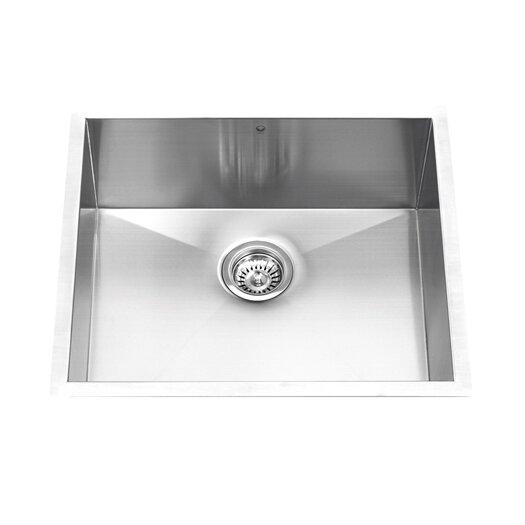 "Vigo 23"" x 20"" Undermount Single Bowl Kitchen Sink with Faucet and Soap Dispenser"