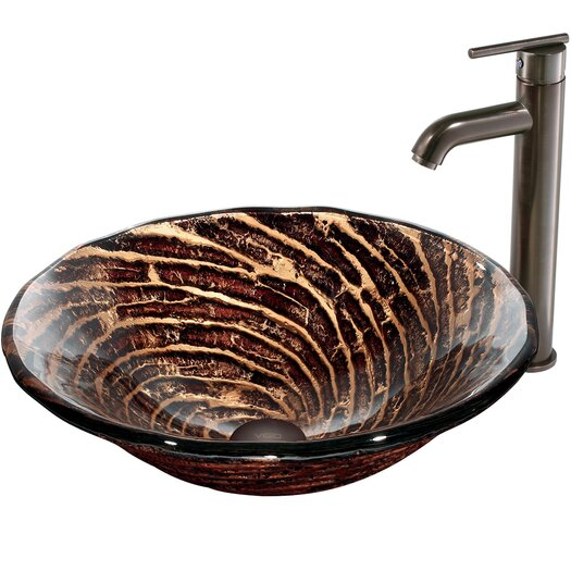 Vigo Caramel Vessel Sink with Faucet