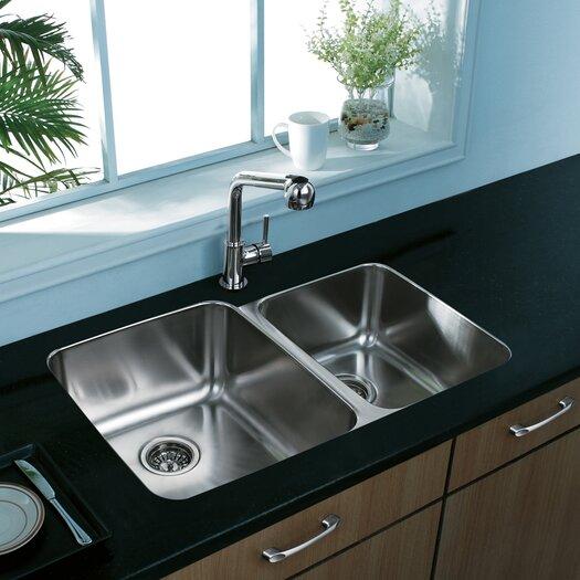 Vigo Double Bowl Undermount Kitchen Sink