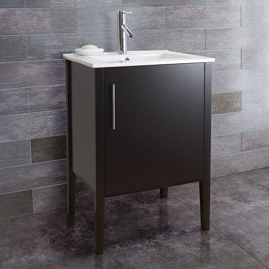 """Vigo Maxine 24"""" Single Bathroom Vanity Set"""