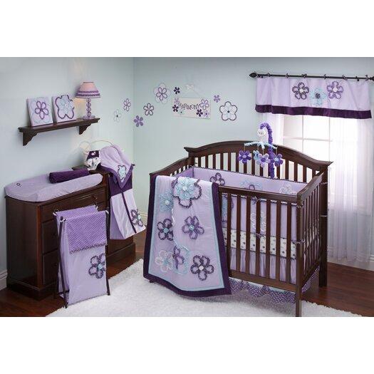 NoJo Harmony Ground Floral Crib Sheet