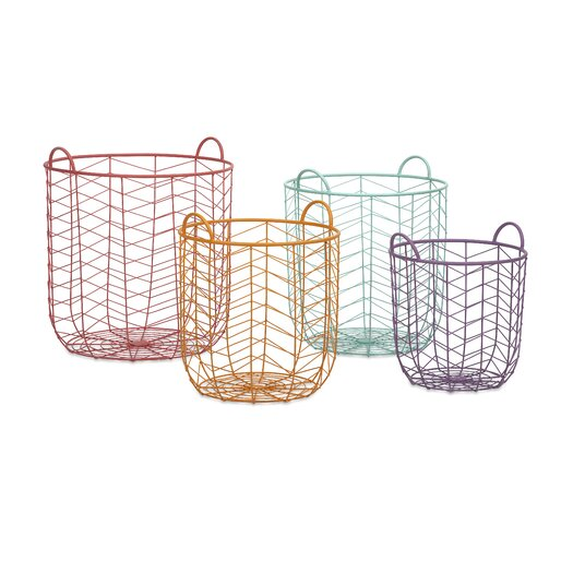 IMAX Maya 4 Piece Metal Baskets Set
